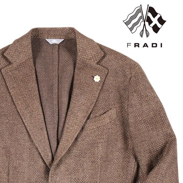 【48】 FRADI フラディ ジャケット メンズ 春夏 リネン混 ブラウン 茶 並行輸入品 メンズファッション 男性用 ビジネス アウター トップス 日本未入荷 ラッピング無料 送料無料