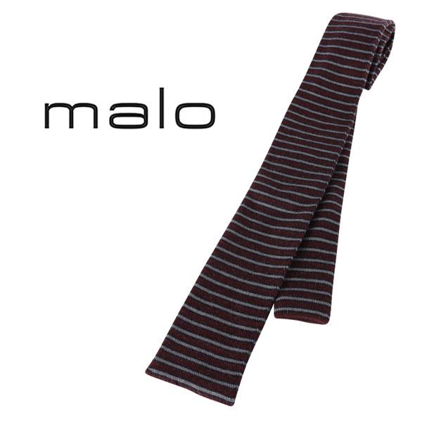 malo マーロ ネクタイ メンズ 秋冬 カシミヤ100% ボーダー レッド 赤 並行輸入品 メンズファッション 男性用 ビジネス 日本未入荷 ラッピング無料 送料無料
