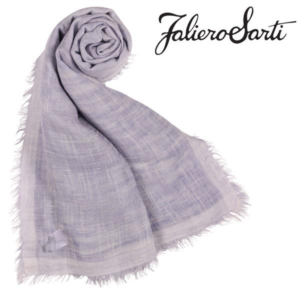 FalieroSarti ファリエロサルティ ストール メンズ カシミヤxシルク混 無地 パープル 紫 並行輸入品 メンズファッション 男性用 ビジネス 日本未入荷 ラッピング無料 送料無料