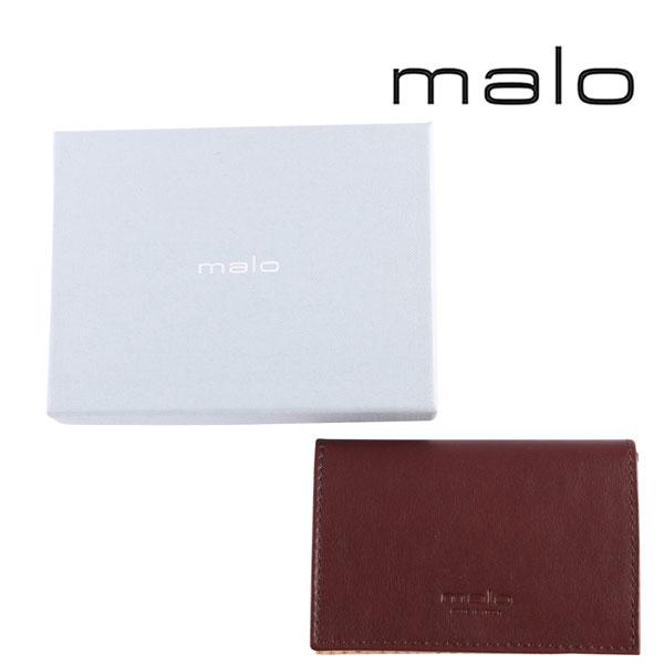 malo マーロ カードケース メンズ ブラウン 茶 レザー 並行輸入品 メンズファッション 男性用 ビジネス 日本未入荷 ラッピング無料 送料無料