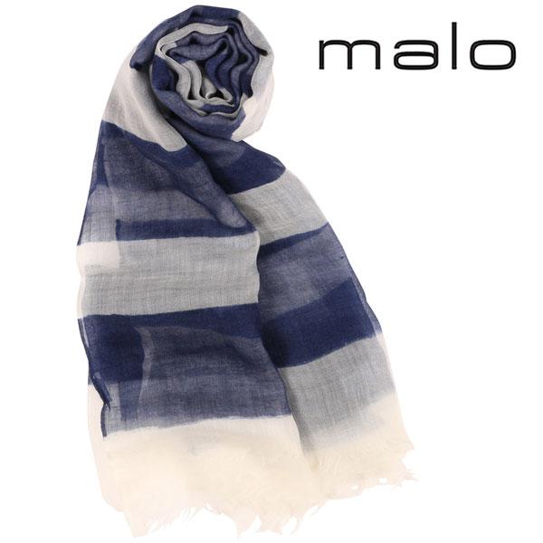 malo マーロ ストール メンズ カシミヤ100% ボーダー ネイビー 紺 並行輸入品 メンズファッション 男性用 ビジネス 日本未入荷 ラッピング無料 送料無料