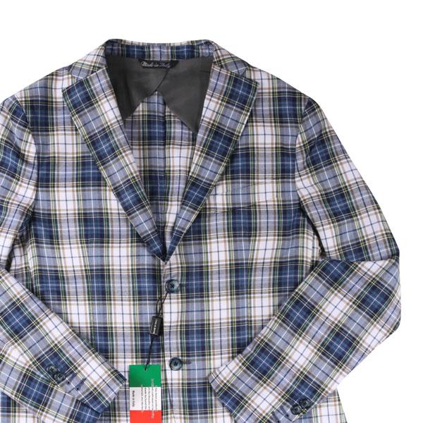 【56】 Boboli line ボボーリリネ ジャケット メンズ 春夏 チェック ネイビー 紺 並行輸入品 メンズファッション 男性用 ビジネス アウター トップス 大きいサイズ 日本未入荷 ラッピング無料 送料無料