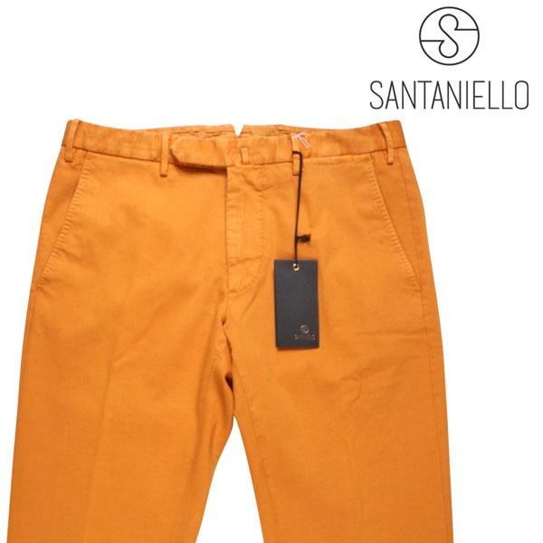 【46】 Santaniello サンタニエッロ コットンパンツ メンズ オレンジ 並行輸入品 メンズファッション 男性用 ビジネス ズボン 日本未入荷 ラッピング無料 送料無料