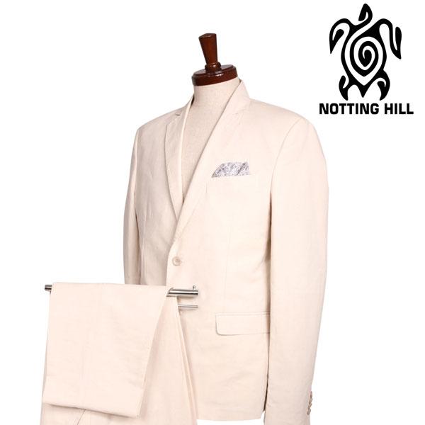 送料無料 NOTTING HILL 日時指定 ノッティングヒル スーツ 50 ホワイト S17172 国内送料無料