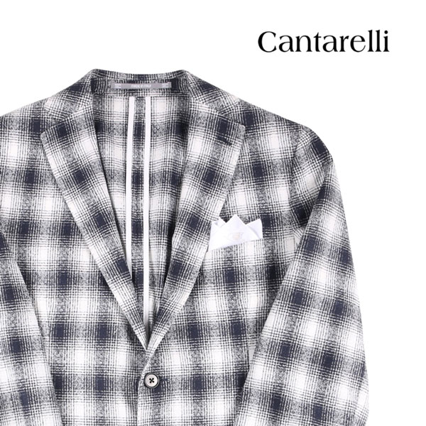 【50】 Cantarelli カンタレッリ ジャケット メンズ 春夏 チェック ネイビー 紺 並行輸入品 メンズファッション 男性用 ビジネス アウター トップス 日本未入荷 ラッピング無料 送料無料