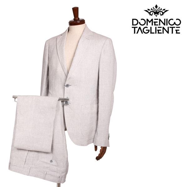送料無料 Domenico ブランド買うならブランドオフ Tagliente 舗 ドメニコ タリエンテ スーツ x 48 FA560131 ホワイト グレー S17531