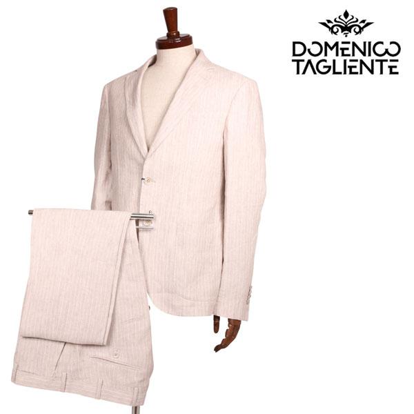 送料無料 Domenico 新作 大人気 Tagliente ドメニコ タリエンテ スーツ S17532 ベージュ 48 ホワイト FA560126 配送員設置送料無料 x