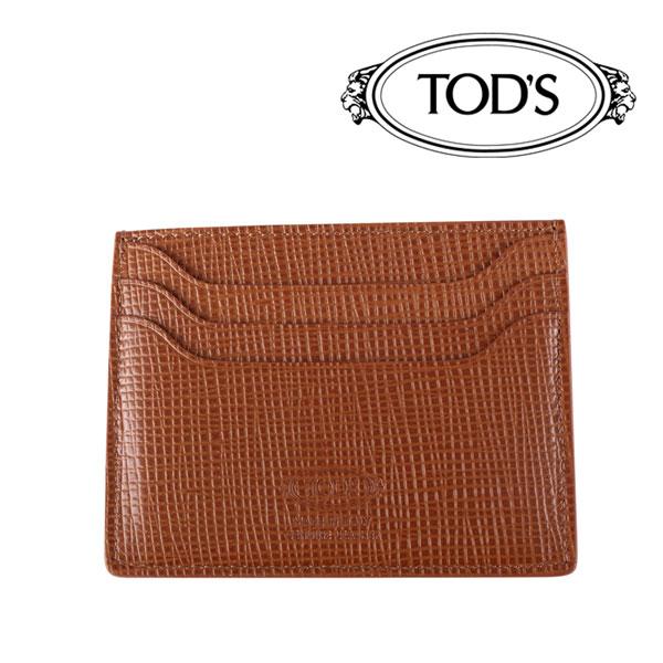 TOD'S トッズ カードケース PORTACARTEDICREDITO メンズ ブラウン 茶 レザー 並行輸入品 メンズファッション 男性用 ビジネス 日本未入荷 ラッピング無料 送料無料