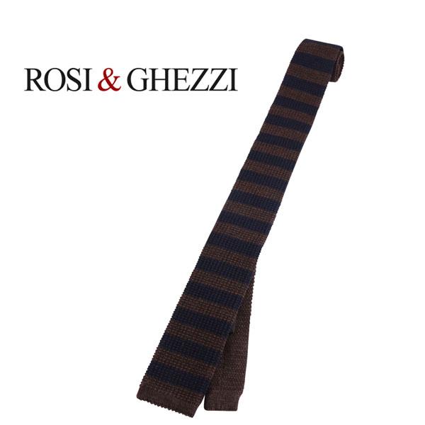 ROSI&GHEZZI ロシゲッツィ ネクタイ メンズ 秋冬 ボーダー ブラウン 茶 並行輸入品 メンズファッション 男性用 ビジネス 日本未入荷 ラッピング無料 送料無料