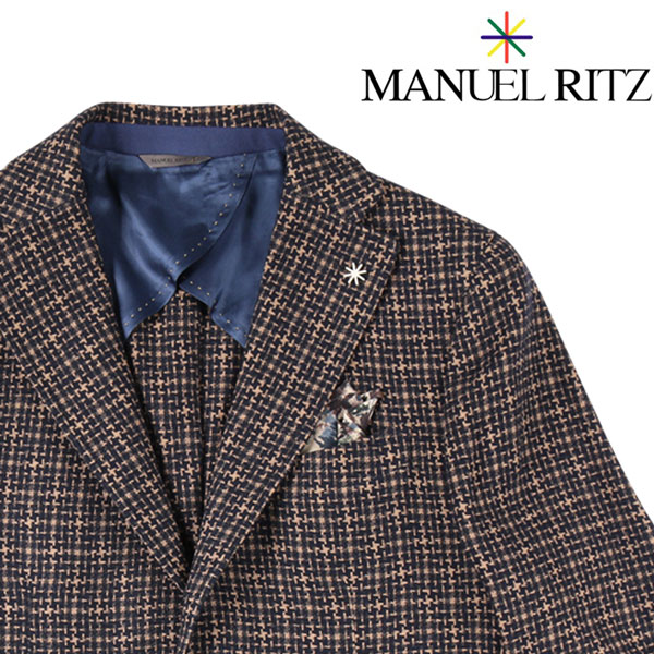 【48】 MANUEL RITZ マニュエル リッツ ジャケット メンズ 秋冬 ブラウン 茶 並行輸入品 メンズファッション 男性用 ビジネス アウター トップス 日本未入荷 ラッピング無料 送料無料