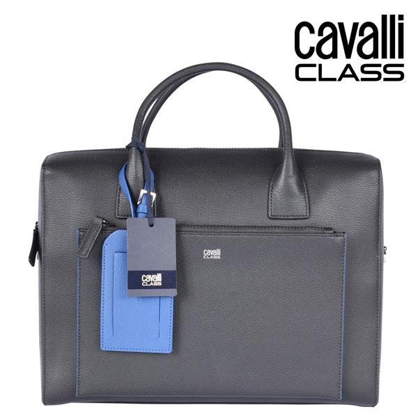 CAVALLI CLASS カヴァッリクラス ブリーフケース メンズ ブラック 黒 レザー 並行輸入品 メンズファッション 男性用 ビジネス 日本未入荷 ラッピング無料 送料無料
