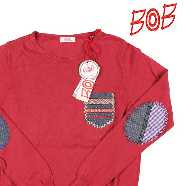 【S】 BOB ボブ 丸首セーター JAZZ メンズ 春夏 レッド 赤 並行輸入品 メンズファッション 男性用 ビジネス ニット 日本未入荷 ラッピング無料 送料無料