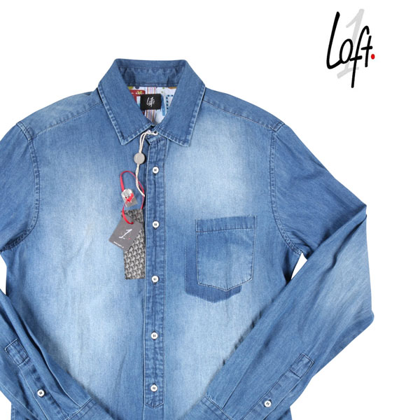 【S】 Loft ロフト デニムシャツ メンズ ブルー 青 並行輸入品 メンズファッション 男性用 ビジネス デニム 日本未入荷 ラッピング無料 送料無料