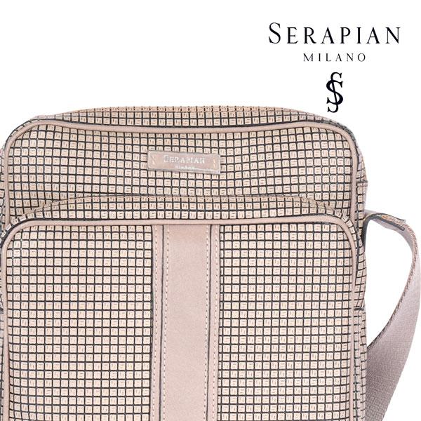 SERAPIAN セラピアン ショルダーバッグ メンズ ブラウン 茶 並行輸入品 メンズファッション 男性用 ビジネス 日本未入荷 ラッピング無料 送料無料