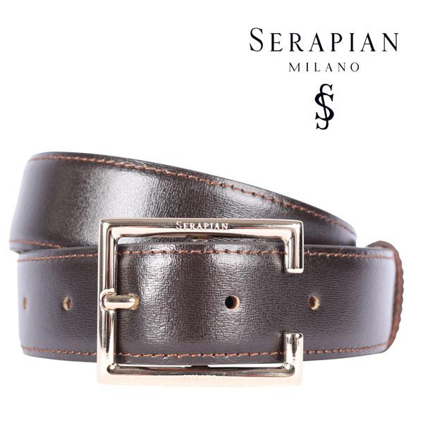 SERAPIAN セラピアン ベルト メンズ ブラウン 茶 レザー 並行輸入品 メンズファッション 男性用 ビジネス 日本未入荷 ラッピング無料 送料無料