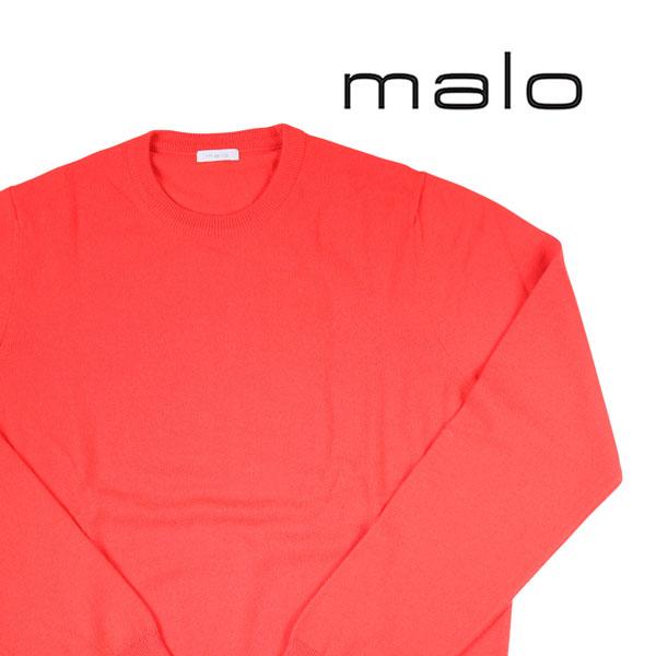 【54】 malo マーロ 丸首セーター メンズ 秋冬 カシミヤ100% オレンジ 並行輸入品 メンズファッション 男性用 ビジネス ニット 大きいサイズ 日本未入荷 ラッピング無料 送料無料