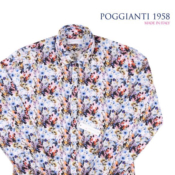 【40】 POGGIANTI 1958 ポジャンティ 1958 長袖シャツ メンズ マルチカラー 並行輸入品 メンズファッション 男性用 ビジネス カジュアルシャツ 日本未入荷 ラッピング無料 送料無料