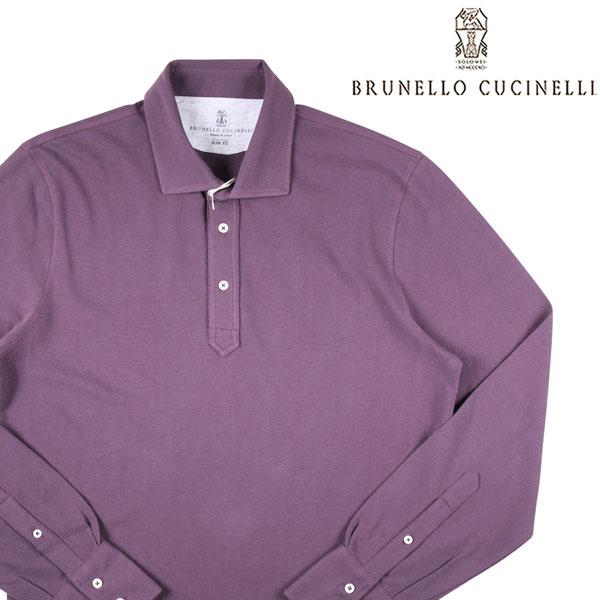 ☆最安値に挑戦 送料無料 BRUNELLO CUCINELLI ブルネロクチネリ 長袖ポロシャツ M0T633976 M セットアップ A19548 パープル