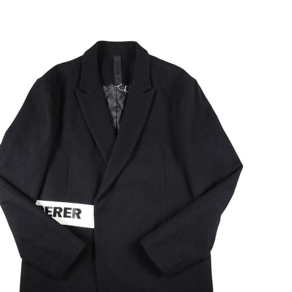 【52】 D BY D ディーバイディー コート メンズ 秋冬 ブラック 黒 並行輸入品 メンズファッション 男性用 ビジネス アウター トップス 大きいサイズ 日本未入荷 ラッピング無料 送料無料