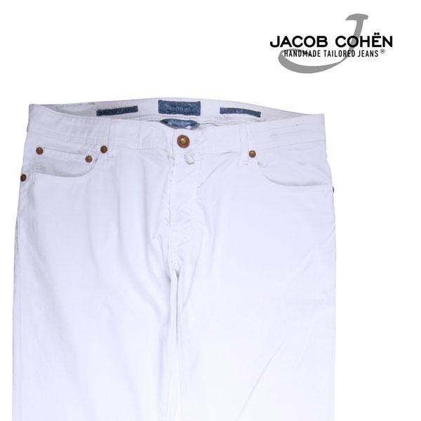 【37】 JACOB COHEN ヤコブコーエン コットンパンツ J688 メンズ 春夏 ホワイト 白 並行輸入品 メンズファッション 男性用 ビジネス ズボン 大きいサイズ 日本未入荷 ラッピング無料 送料無料