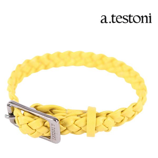 a.testoni ア・テストーニ ブレスレット メンズ イエロー 黄 レザー 並行輸入品 メンズファッション 男性用 ビジネス 日本未入荷 ラッピング無料 送料無料