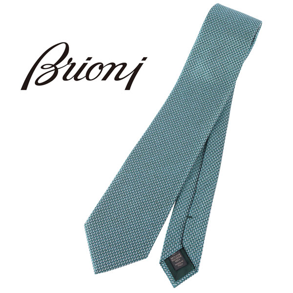Brioni ブリオーニ ネクタイ O61D00 P2M03 0003 メンズ シルク100% グリーン 緑 並行輸入品 メンズファッション 男性用 ビジネス 日本未入荷 ラッピング無料 送料無料