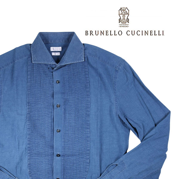 【M】 BRUNELLO CUCINELLI ブルネロクチネリ 長袖シャツ CM085US1886 メンズ ネイビー 紺 並行輸入品 メンズファッション 男性用 ビジネス カジュアルシャツ 日本未入荷 ラッピング無料 送料無料