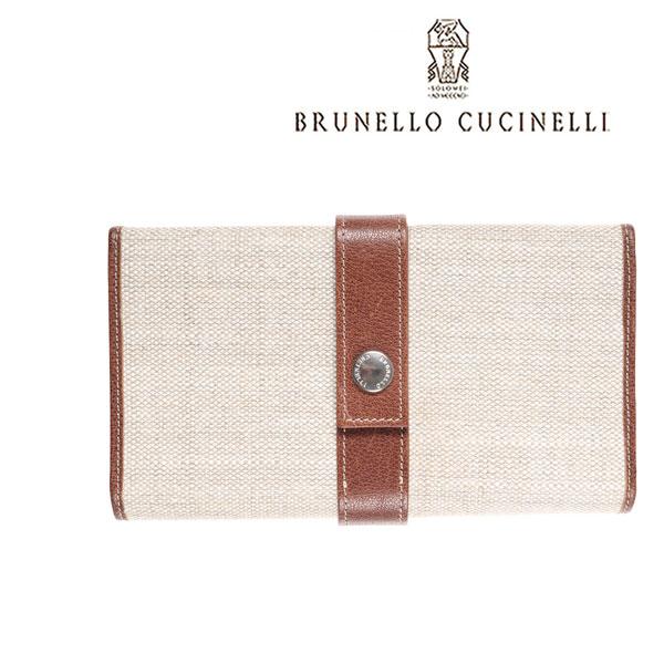 BRUNELLO CUCINELLI ブルネロクチネリ 財布 MWHBU254 メンズ ベージュ レザー 並行輸入品 メンズファッション 男性用 ビジネス 日本未入荷 ラッピング無料 送料無料