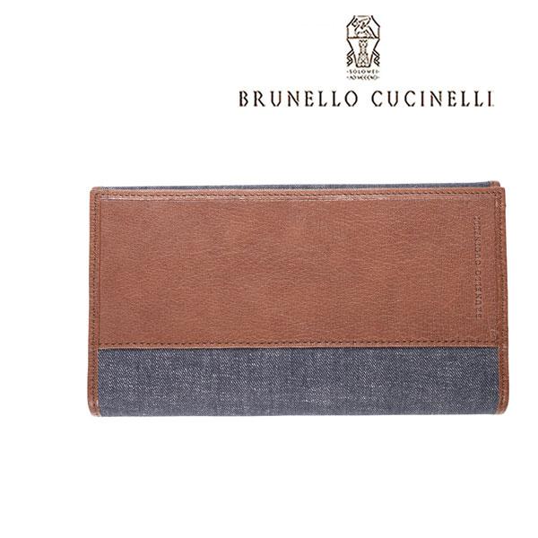 BRUNELLO CUCINELLI ブルネロクチネリ 財布 MWMRU254 メンズ ネイビー 紺 レザー 並行輸入品 メンズファッション 男性用 ビジネス 日本未入荷 ラッピング無料 送料無料