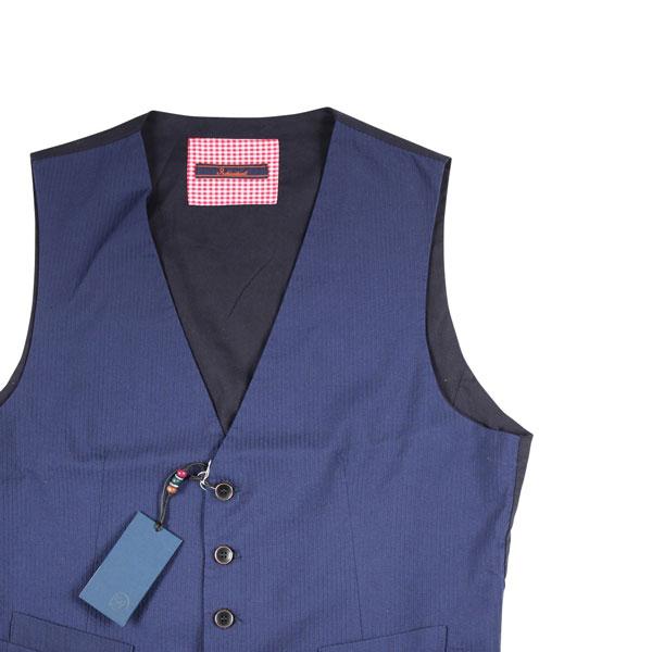 【50】 Indiuidual インディビデュアル ジレ メンズ ストライプ ネイビー 紺 並行輸入品 メンズファッション 男性用 ビジネス ベスト 日本未入荷 ラッピング無料 送料無料