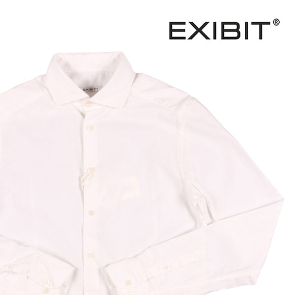【XL】 EXIBIT エグジビット 長袖シャツ メンズ ホワイト 白 並行輸入品 メンズファッション 男性用 ビジネス カジュアルシャツ 日本未入荷 ラッピング無料 送料無料