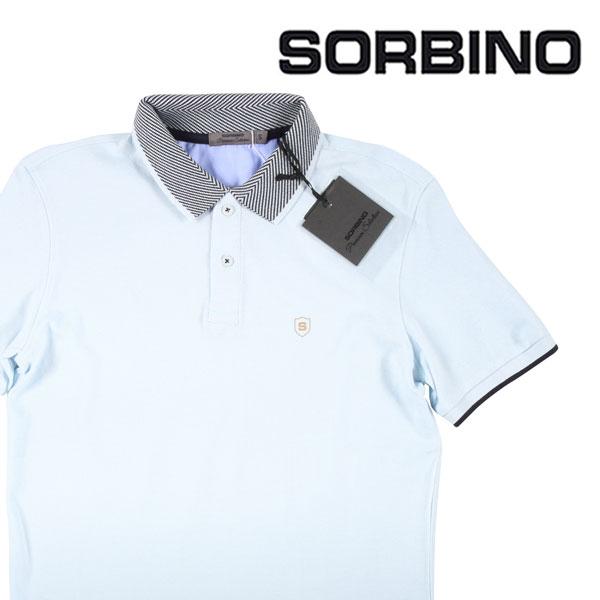 【M】 SORBINO ソルビーノ 半袖ポロシャツ メンズ 春夏 スカイブルー 並行輸入品 メンズファッション 男性用 ビジネス トップス 日本未入荷 ラッピング無料 送料無料