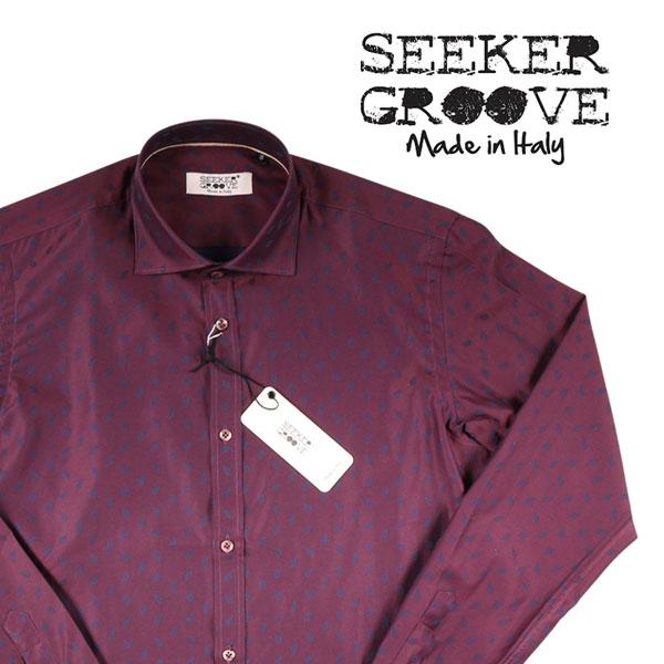 【M】 SEEKER GROOVE シーカーグルーブ 長袖シャツ メンズ レッド 赤 並行輸入品 メンズファッション 男性用 ビジネス カジュアルシャツ 日本未入荷 ラッピング無料 送料無料