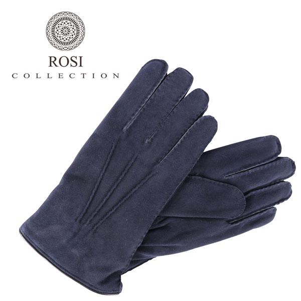 ROSI COLLECTION ロージコレクション グローブ メンズ 秋冬 ネイビー 紺 レザー 並行輸入品 メンズファッション 男性用 ビジネス 日本未入荷 ラッピング無料 送料無料