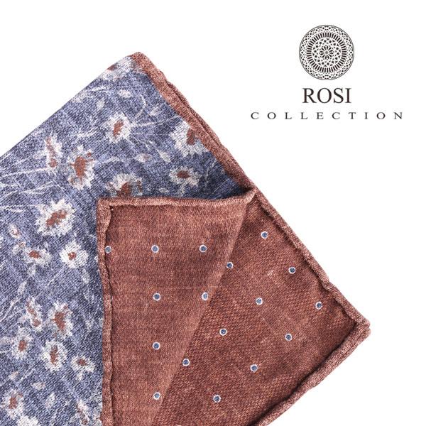 ROSI COLLECTION ロージコレクション ポケットチーフ メンズ リバーシブル 花柄 ネイビー 紺 並行輸入品 メンズファッション 男性用 ビジネス 日本未入荷 ラッピング無料 送料無料