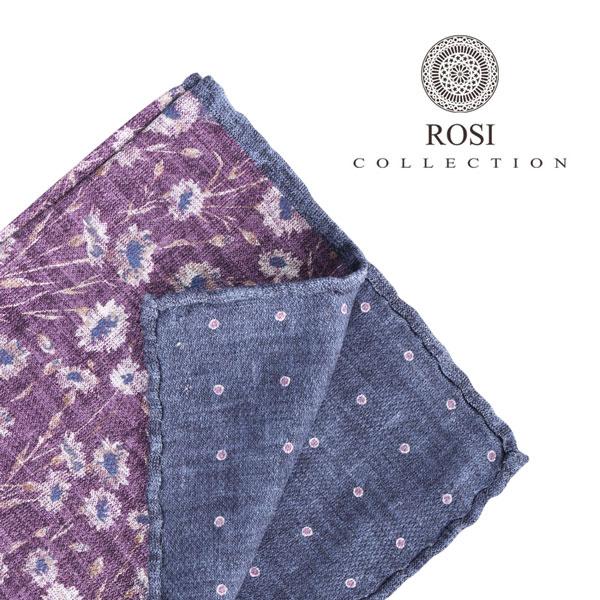 ROSI COLLECTION ロージコレクション ポケットチーフ メンズ リバーシブル 花柄 パープル 紫 並行輸入品 メンズファッション 男性用 ビジネス 日本未入荷 ラッピング無料 送料無料