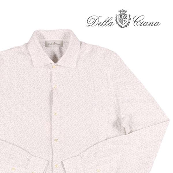 【50】 Della Ciana デッラシアナ 長袖シャツ メンズ 花柄 ホワイト 白 並行輸入品 メンズファッション 男性用 ビジネス カジュアルシャツ 日本未入荷 ラッピング無料 送料無料