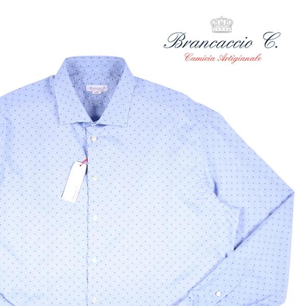 【46】 Brancaccio ブランカッチャ 長袖シャツ メンズ ブルー 青 並行輸入品 メンズファッション 男性用 ビジネス カジュアルシャツ 大きいサイズ 日本未入荷 ラッピング無料 送料無料