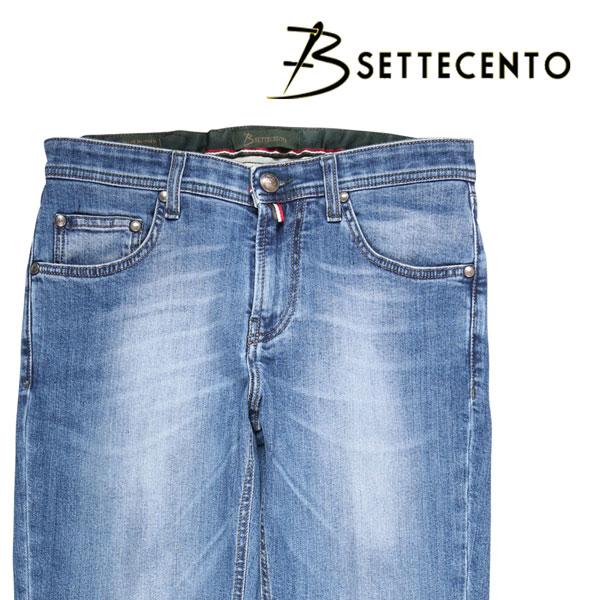 【38】 B SETTECENTO ビーセッテチェント ジーンズ メンズ ブルー 青 並行輸入品 メンズファッション 男性用 ビジネス デニム 大きいサイズ 日本未入荷 ラッピング無料 送料無料