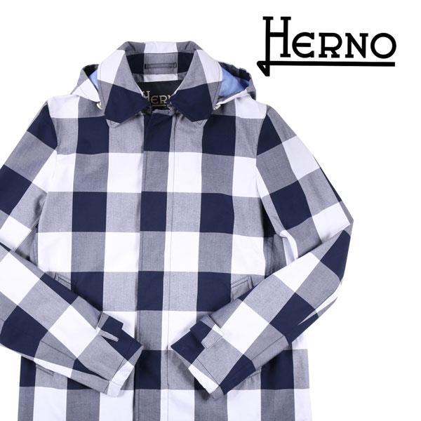 【48】 HERNO ヘルノ コート IM0151U メンズ チェック ブルー 青 並行輸入品 メンズファッション 男性用 ビジネス アウター トップス 日本未入荷 ラッピング無料 送料無料
