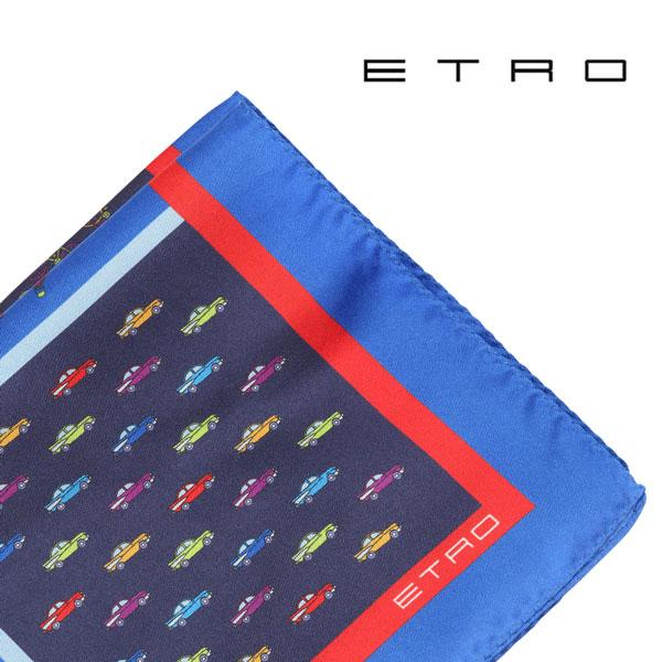 ETRO エトロ ポケットチーフ メンズ ネイビー 紺 並行輸入品 メンズファッション 男性用 ビジネス 日本未入荷 ラッピング無料 送料無料
