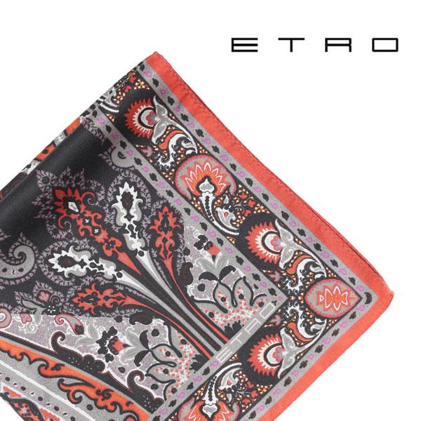 ETRO エトロ ポケットチーフ メンズ ペイズリー ブラック 黒 並行輸入品 メンズファッション 男性用 ビジネス 日本未入荷 ラッピング無料 送料無料