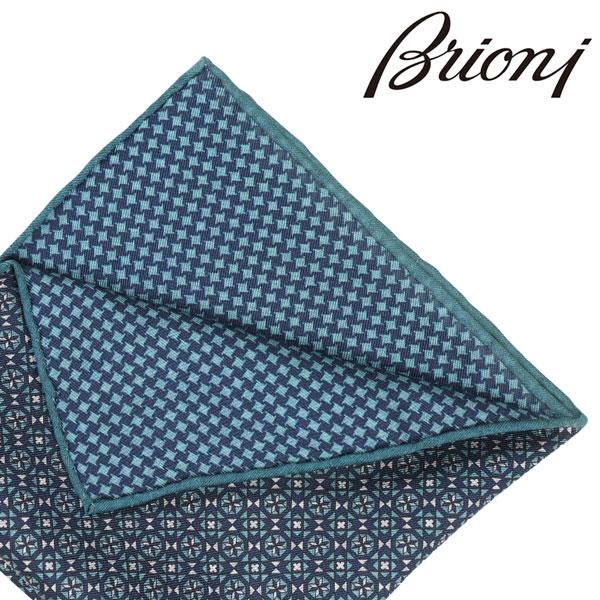 BRIONI ブリオーニ ポケットチーフ 0741A メンズ リバーシブル ネイビー 紺 並行輸入品 メンズファッション 男性用 ビジネス 日本未入荷 ラッピング無料 送料無料