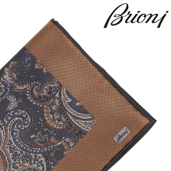 BRIONI ブリオーニ ポケットチーフ 0741Y メンズ リバーシブル ペイズリー イエロー 黄 並行輸入品 メンズファッション 男性用 ビジネス 日本未入荷 ラッピング無料 送料無料