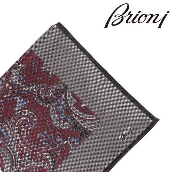 BRIONI ブリオーニ ポケットチーフ 0741Y メンズ リバーシブル ペイズリー レッド 赤 並行輸入品 メンズファッション 男性用 ビジネス 日本未入荷 ラッピング無料 送料無料