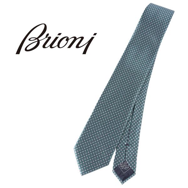 BRIONI ブリオーニ ネクタイ 7468 メンズ グリーン 緑 並行輸入品 メンズファッション 男性用 ビジネス 日本未入荷 ラッピング無料 送料無料