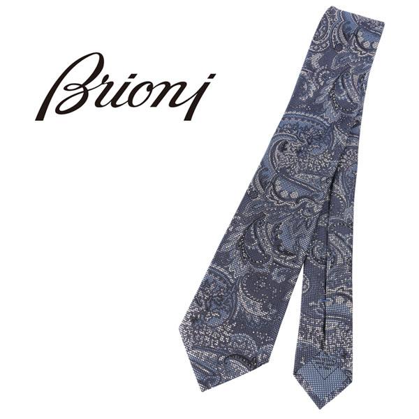 BRIONI ブリオーニ ネクタイ 0741Y メンズ ペイズリー ネイビー 紺 並行輸入品 メンズファッション 男性用 ビジネス 日本未入荷 ラッピング無料 送料無料