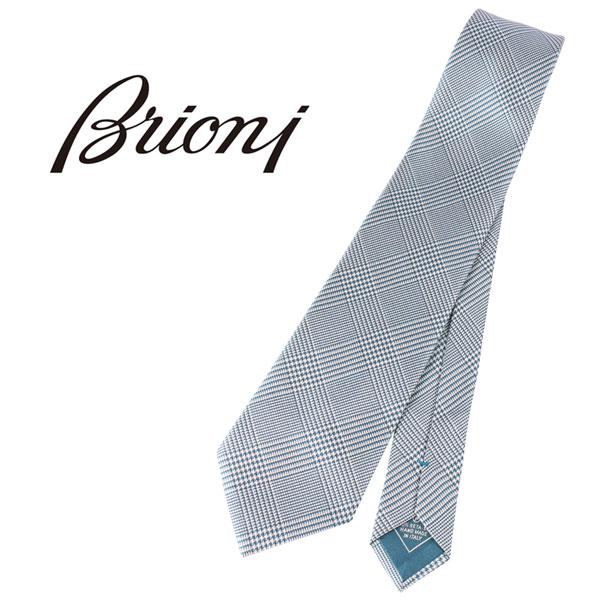 BRIONI ブリオーニ ネクタイ P7442 メンズ チェック ブルー 青 並行輸入品 メンズファッション 男性用 ビジネス 日本未入荷 ラッピング無料 送料無料