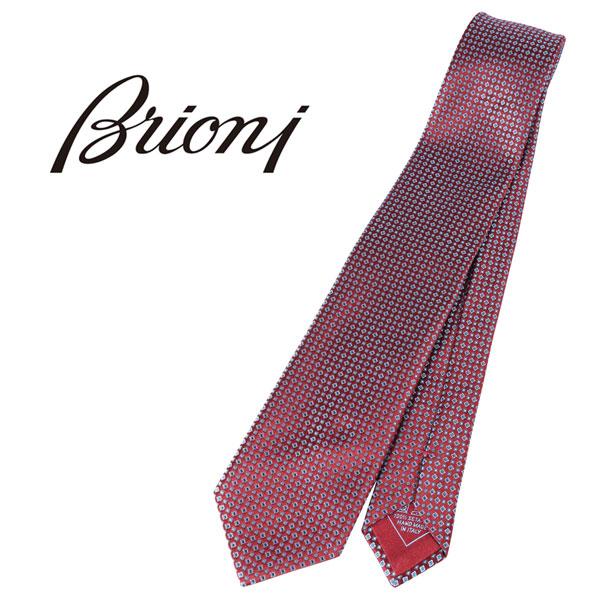 BRIONI ブリオーニ ネクタイ 7434 メンズ レッド 赤 並行輸入品 メンズファッション 男性用 ビジネス 日本未入荷 ラッピング無料 送料無料