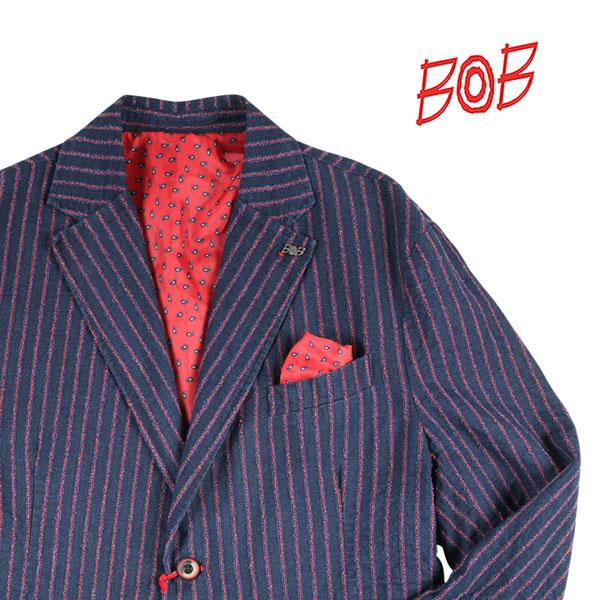 【54】 BOB ボブ ジャケット DAVID542 メンズ 春夏 ストライプ ネイビー 紺 並行輸入品 メンズファッション 男性用 ビジネス アウター トップス 大きいサイズ 日本未入荷 ラッピング無料 送料無料